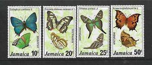 JAMAICA 1978 BUTTERFLIES THIRD SERIES  UNMOUNTED MINT STAMPS