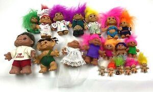 Lot Of 20 Vintage Russ/DAM Troll Dolls Lot