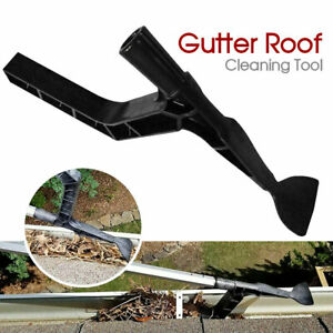 New Gutter Roof Cleaning Tool Hook Shovel Scoop Leaves Dirt Remove Home Cleaner