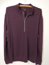 Tiger Woods Collection Mens Size Large Purple Casual 1/4 Zip Pullover Sweater