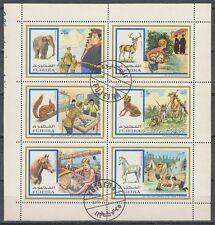 Fujeira 1972 Mi.896/01 A Klbg. used c.t.o. Pfadfinder Scouts Tiere Animals