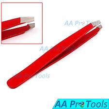 Red-Color Professional Mini Eyebrow Tweezers Baby Tweezers Slanted Tips