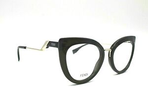 NEW FENDI FF 0334 807 BLACK WOMEN EYEGLASSES FRAME 51-21-140 AUTHENTIC W/CASE