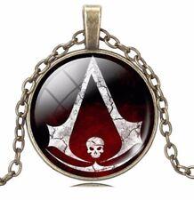 Assassin's Creed Skull Logo Glass Domed Pendant NECKLACE