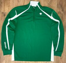 Descente mens Green thermal ski zip pullover jersey sweater size M