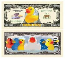 Rubber Ducky Novelty One Million Dollar Bill Quack