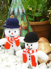 Knitting Pattern: Snowman Christmas Toy/ Tree Decoration/ Brooch/ Tombola/ Fete