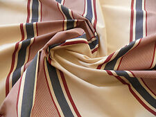 10Y LEE JOFA MILANESE STRIPE GARNET RED AND BLUE ON WHITE COTTON MSRP$126/Y