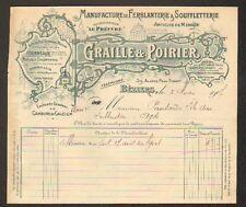 "BEZIERS (34) USINE de FERBLANTERIE & SOUFFLERIE ""GRAILLE & POIRIER"" en 1907"