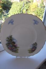 Royal Vale Country Cottage Cake Plate 1st Quality Bone China Vintage