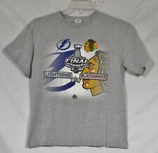 DELTA MAGNUM WEIGHT Youth Gray T-Shirt XL Stanley Cup Final 2015 Blackhawks