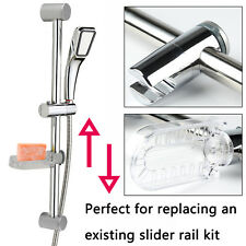 Adjustable Chrome Bathroom Shower Head Holder Riser Rail Bracket Slider Bar Kit