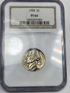1957 Proof Jefferson Nickel NGC PF67