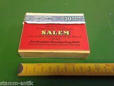 alte Zigaretten Schachtel, Salem,Union Dresden,mit Aufdruck Friedensfahrt 1954