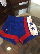 Vintage New Jersey Nets Otis Birdsong Game Worn Sand Knit Shorts Team Issued 34