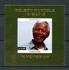 SIERRA LEONE 2013 Gomma integra, non linguellato Nelson Mandela in memoriam 1v ORO TIMBRO politici