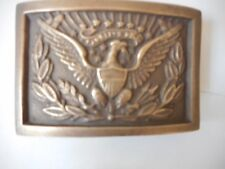 Vintage style Solid Brass Eagle CSA Union Officer Buckle Belt