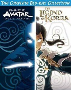 Avatar Last Airbender Legend of Korra Complete Blu-Ray Collection DVD Set. -7B