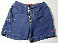 Recent Polo Ralph Lauren Mens Cargo Swim Trunks Size 2XL XXL Blue 100% Nylon