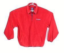 Ralph Lauren Chaps Mens Zip Fleece Pullover Jacket Coat Red Size XL GUC