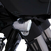 Signal light inserts fang front chrome - HARLEY DAVIDSON ABS GLIDE SOFTAIL XL...