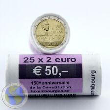 Orig. ROLLE -  25x 2 Euro LUXEMBURG 2018 - 150 Jahre Verfassung ## in SICHTROLLE