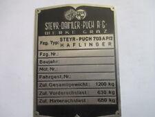 Typenschild  Schild Steyr Puch haflinger  703 AP/2 703AP/2  S45