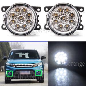 2X LED Front Left Right Fog Driving Light Lamp For SUZUKI Grand Vitara 2006-2014