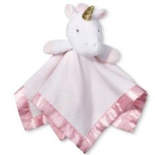 """Small Security Blanket Unicorn Cloud Island Light Pink NWT Girls 14"""" Lovey Baby"""