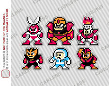 8bit Mega Man 1 Villain Cast Car/Refrigerator Magnets