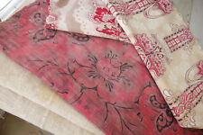 Vintage French fabrics antique material PROJECT BUNDLE linen floral art nouveau