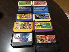 Nintendo Famicom Cartridge NES Japan lot of 10 set 167