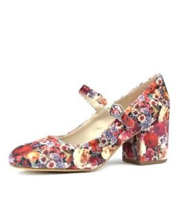 Cute 'I LOVE BILLY' Velvet Floral Mary Jane Pumps EU 41 (Au10) BNIB RRP $69.95