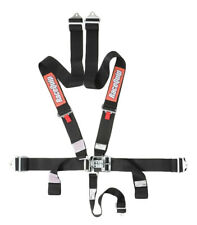 RaceQuip 711001 Black SFI 5pt Latch & Link Racing Safety Harnesses Pair