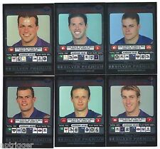 "2001 Teamcoach Silver WESTERN BULLDOGS Team Set (6 Cards) "" """