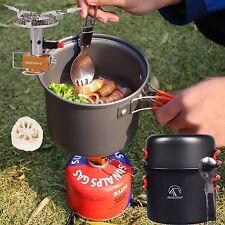 Best Lightweight Camping Cookware Kit Camp Stove Cookset Supplies Survival Gear