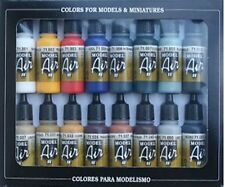 AEROGRAFO PITTURE-Vallejo Model Air Colore di Base Kit - 16 x 17ml Bottiglie