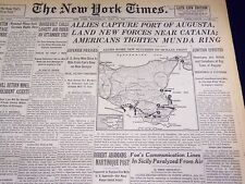 1943 JULY 14 NEW YORK TIMES - ALLIES CAPTURE PORT OF AUGUSTA - NT 1870
