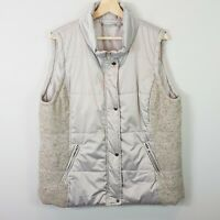 [ HAMMOCK AND VINE ] Womens Grey Puffer Vest Jacket | Size AU 18 or US 14