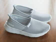 ADIDAS Women's Size 7.5 Gray Slip On CloudFoam Neo Lite Racer Shoes Sneakers