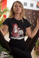 Dark Red Riding Hood T-Shirt Mens evil gothic wolf Womens Ladies