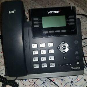 QTY 5 Verizon Yealink One Talk T41S IP Desk Phones W/ Wall AC Adapter Clean