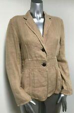MARELLA Linen Unlined Beige Summer Jacket/Blazer, UK10