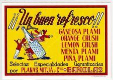 Reproducción antigua publicidad REFRESCOS PLAMI Y CRUSH