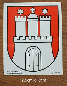 Sticker Aufkleber Wappen Hamburg 80er Jahre Kofferaufkleber Reise Stadt