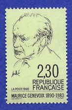 TIMBRE FRANCE 1990 MAURICE GENEVOIX NEUF