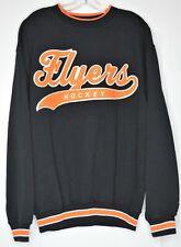 Starter Flyers Black Orange Knit Pullover Sweatshirt Size Medium Crew Neck NHL