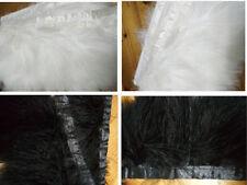 beautiful Turkey fluff feathers ribbon 8-9cm/3-4 inches (white / black)