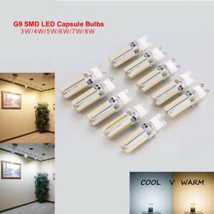 G9 LED SMD Capsule Bulb Replace Light Lamp Filament 3W 4W 5W 6W 7W 8W Bulbs UK