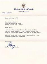 AUTOGRAPH LETTER signed DEWEY FOLLETT BARTLETT, SR.Oklahoma Governor & Senator